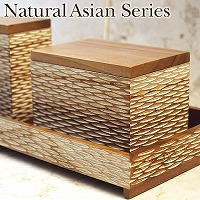 Natural Asian Series Cotton case (コットンケース) ナチュラルホワイト